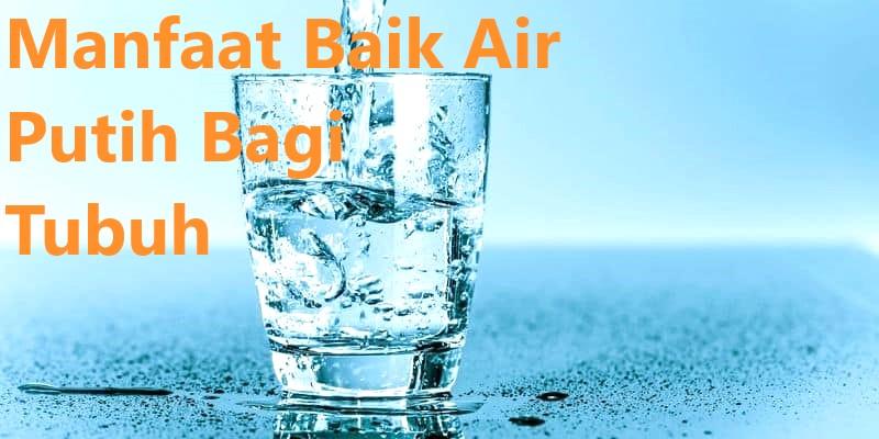 Manfaat Baik Air Putih Bagi Tubuh